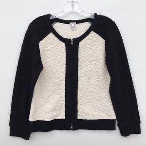 J.Crew Boucle Knit Stretch Jacket Colorblock #49